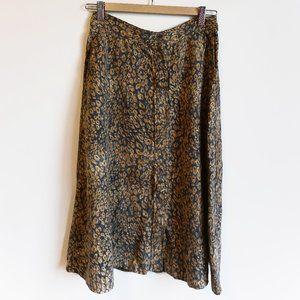 WILFRED Animal Midi Skirt Summer Aritzia